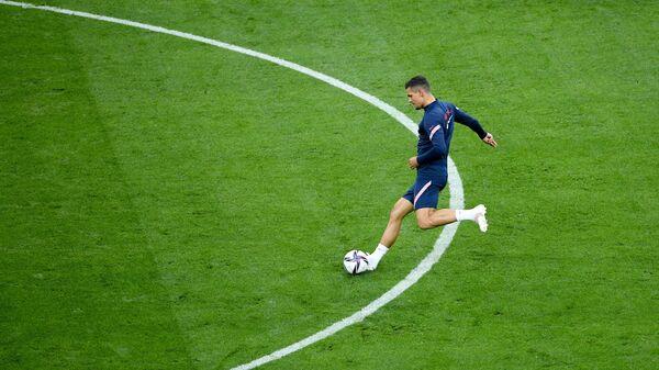 Футбол. Тренировка сборной Хорватии