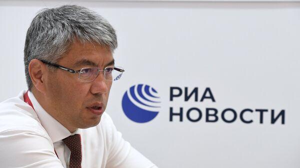 Главa Республики Бурятия Алексей Цыденов на ВЭФ-2021