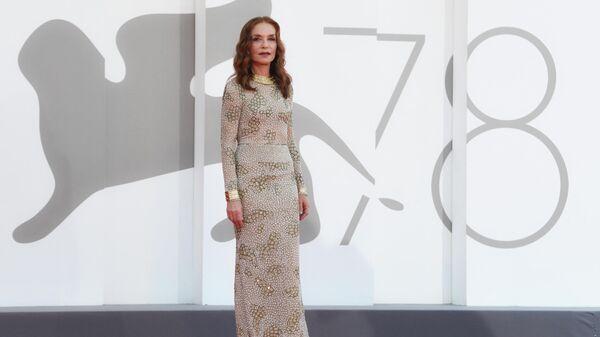 Актриса Изабель Юппер на 78-м Венецианском международном кинофестивале