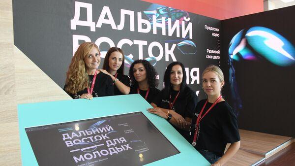 Девушки на Восточном экономическом форуме во Владивостоке