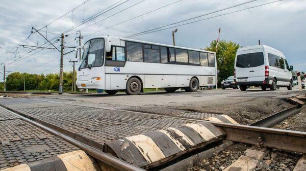 Железнодорожный переезд в Ялуторовске Тюменской области