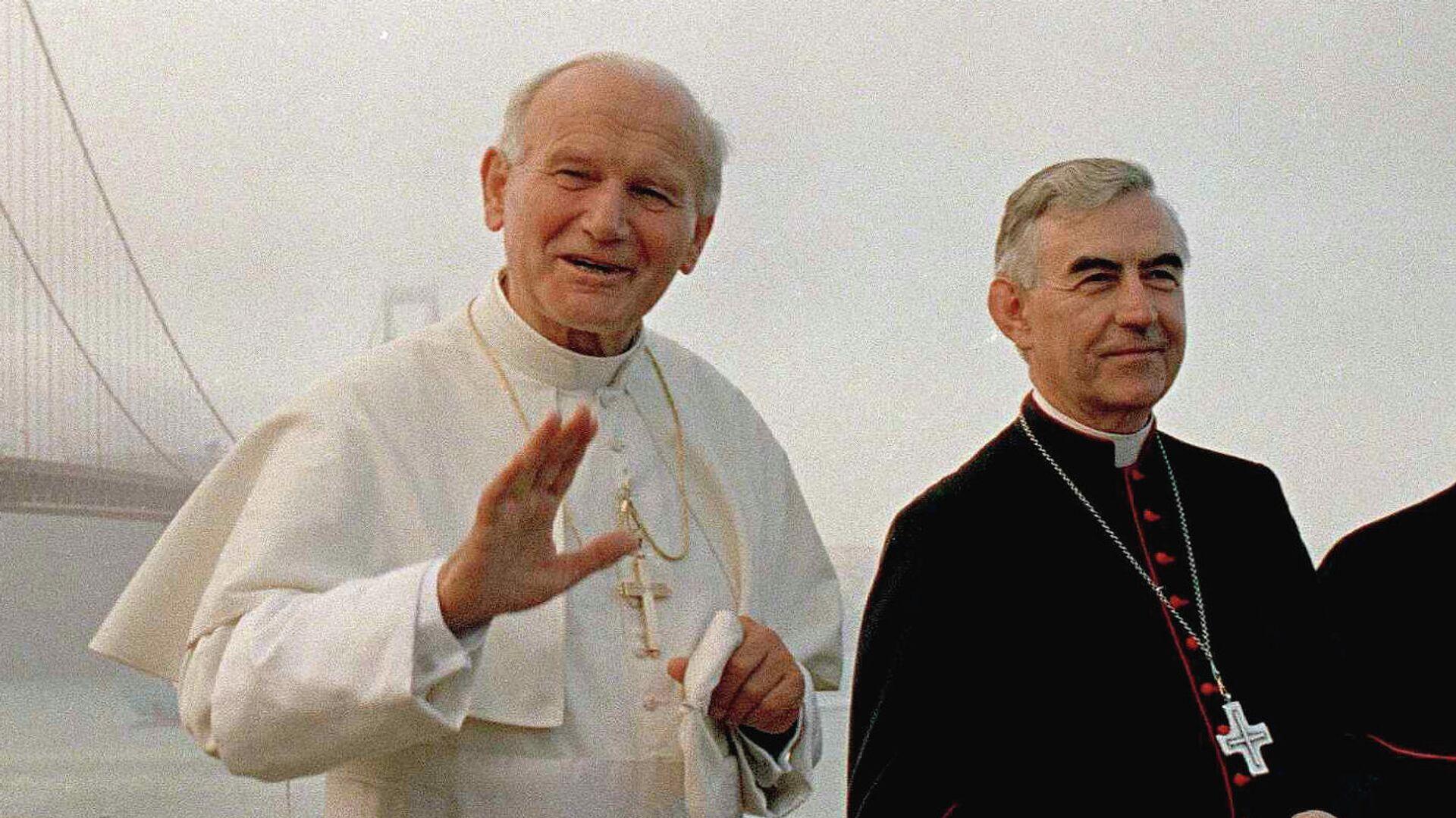 Папа Иоанн Павел II и кардинал Агостино Казароли в Сан-Франциско - РИА Новости, 1920, 13.09.2021