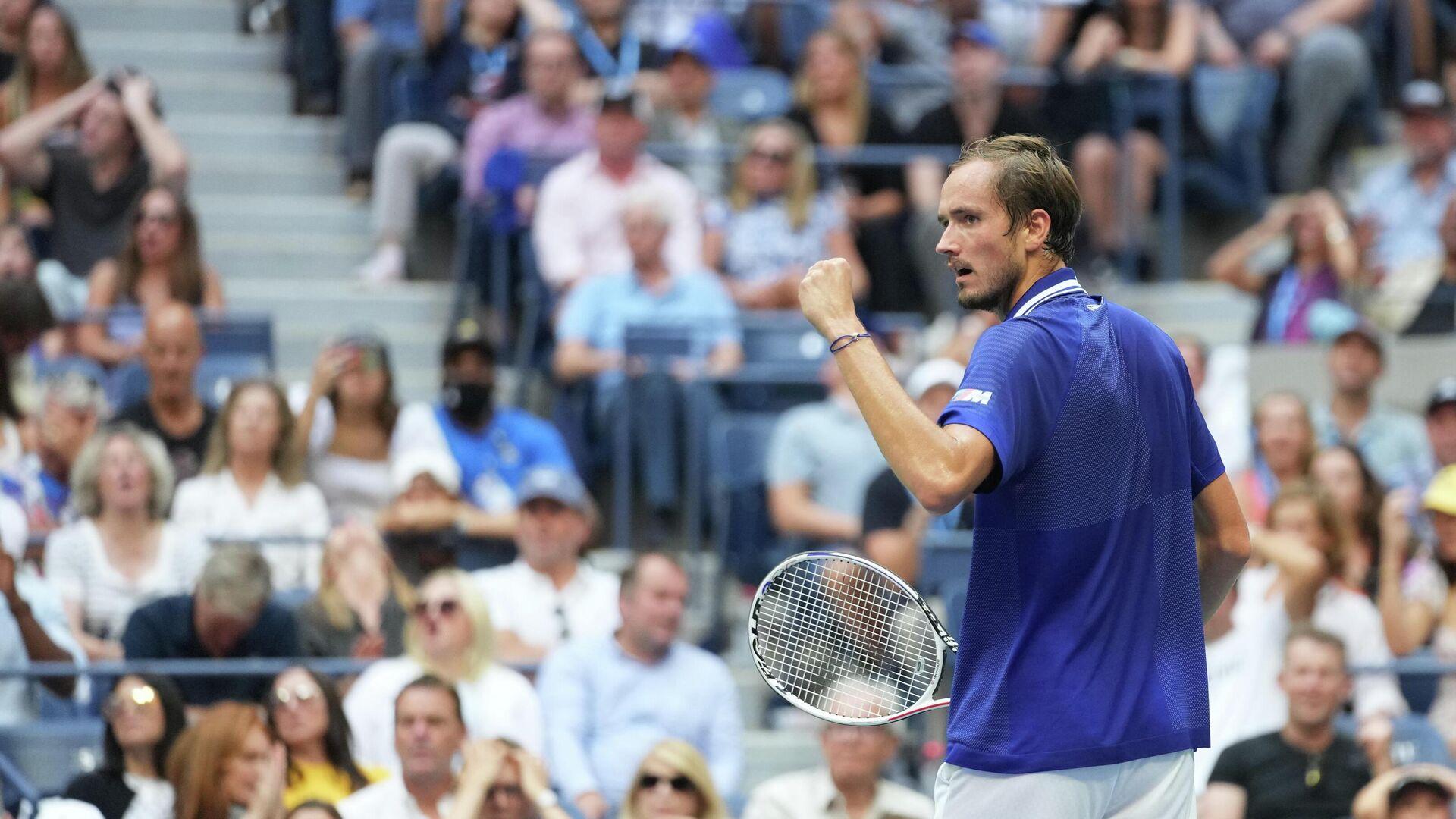 Российский теннисист Даниил Медведев после победы на US Open - РИА Новости, 1920, 13.09.2021