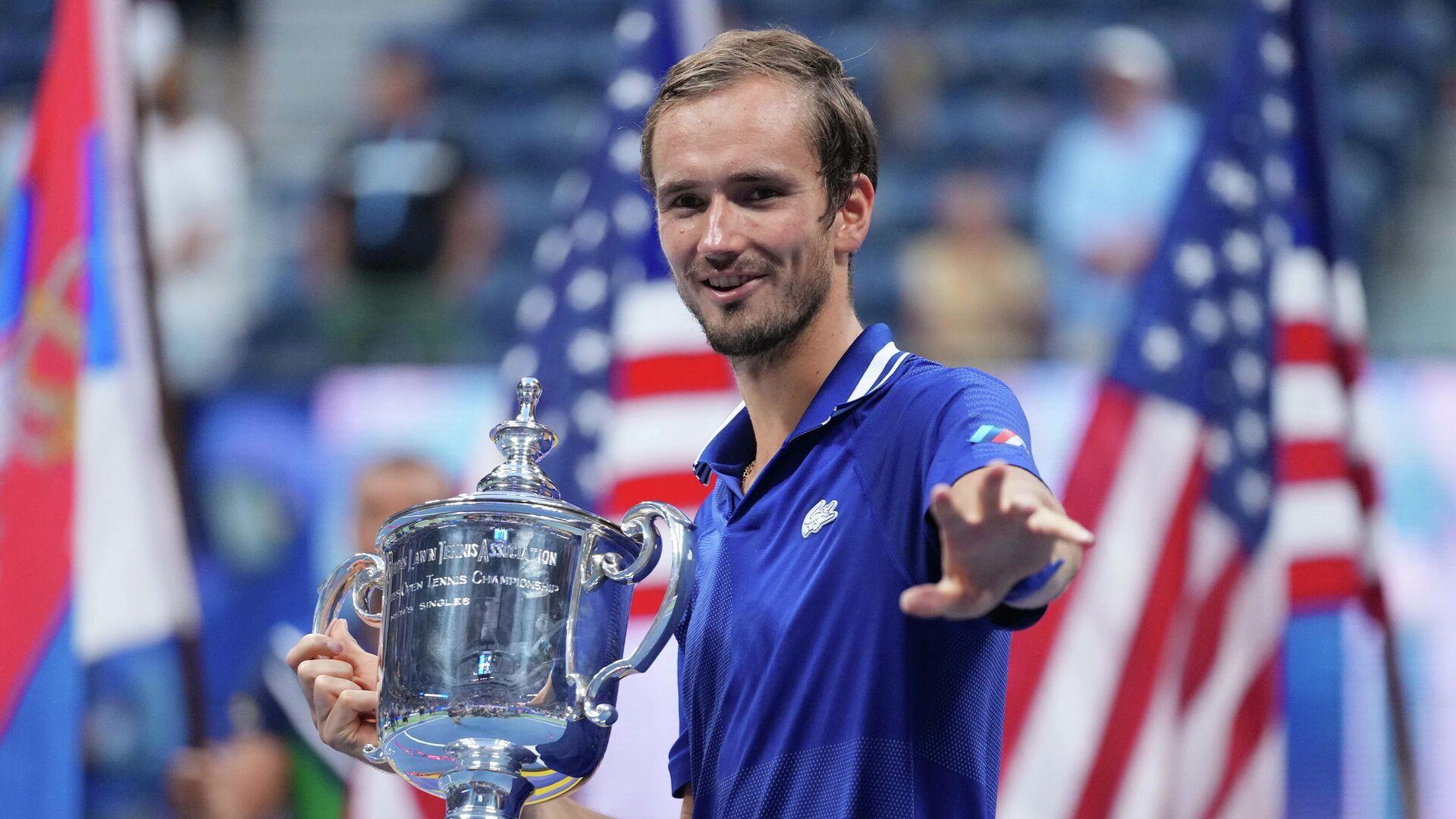 Российский теннисист Даниил Медведев - победитель US Open. - РИА Новости, 1920, 13.09.2021