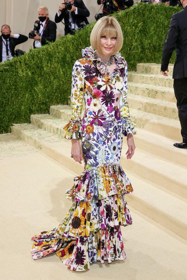 Анна Винтур на балу Института костюма Met Gala в Нью-Йорке