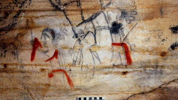 Картинная пещера в Миссури, США
