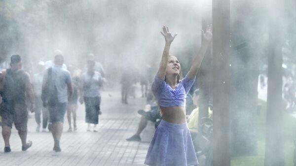 Девушка на улице Киева