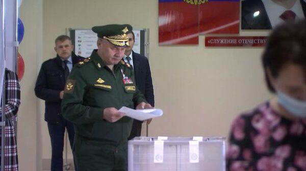Голосование Шойгу на выборах в Госдуму