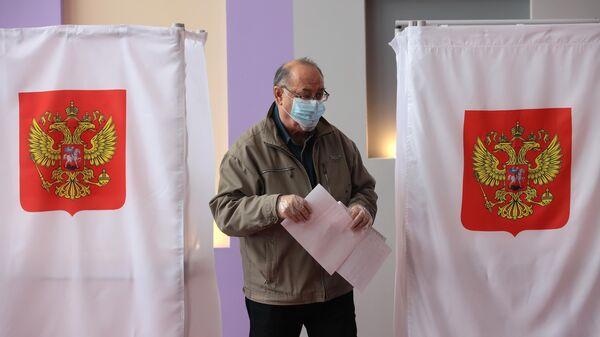 Голосование на избирательном участке в Туле