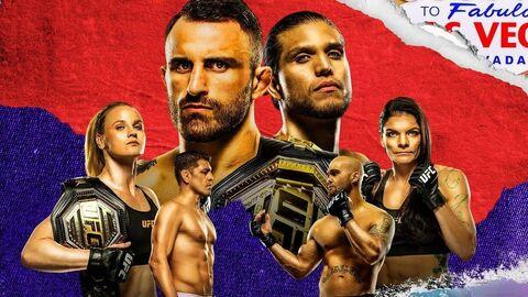 Официальный постер UFC 266