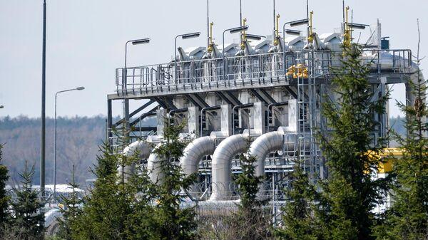 Объект газопровода Ямал – Европа в городе Цеханув в Польше