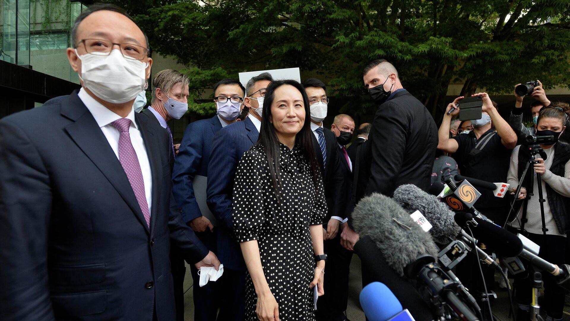 Финансовый директор Huawei Мэн Ваньчжоу после заседания суда в Ванкувере, Канада - РИА Новости, 1920, 27.09.2021