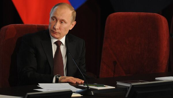 В.Путин на коллегии МВД РФ. Фото с места
