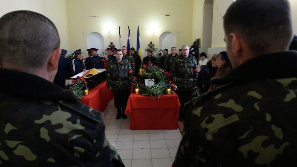 Прощание с погибшими от рук снайпера в Симферополе. Фото с места события