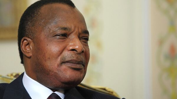 Президент Республики Конго Дени Сассу-Нгессо. Архивное фото