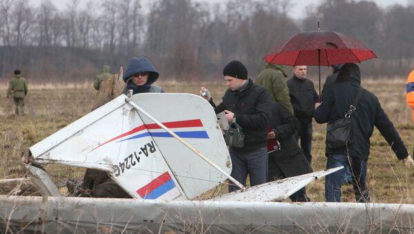 Учебный самолет разбился в Калининградской области