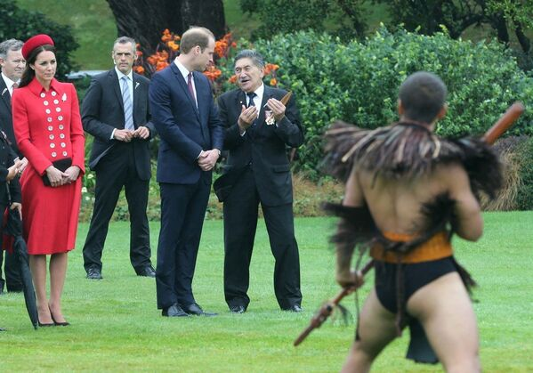 Герцогиня Кембриджская Кейт во время поездки в Новую Зеландию