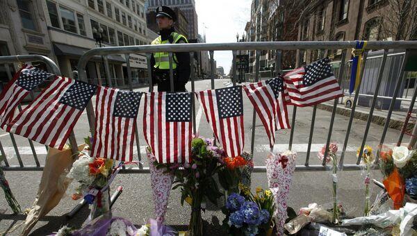 Оцепление возле места взрыва в Бостоне. Архивное фото