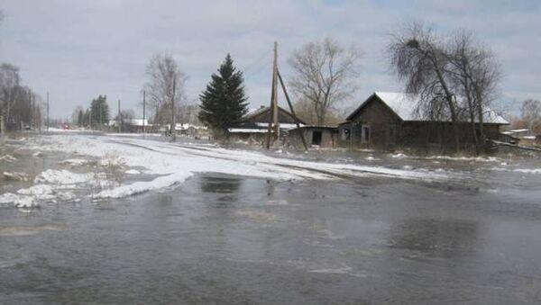 Подтопление деревни в Колпашевском районе Томской области