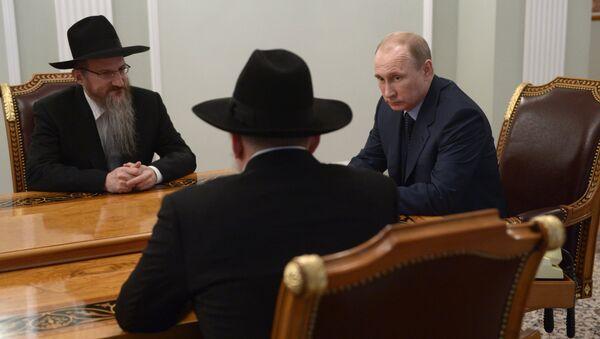 В.Путин встретился с Б.Лазаром и А.Бородой