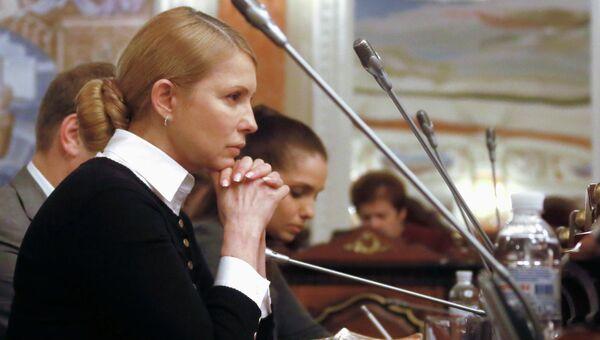 Юлия Тимошенко на заседании суда в Киеве