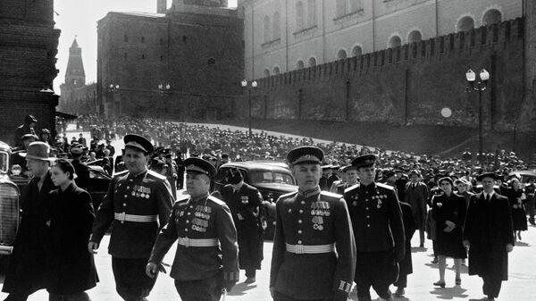 Москва. Красная площадь 9 мая 1945 года