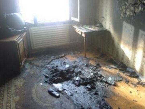 Житель села под Томском погиб при пожаре, уснув с сигаретой в постели, событийное фото