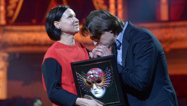 Хореограф Татьяна Баганова и Сергей Филин на церемонии вручения премии Золотая маска