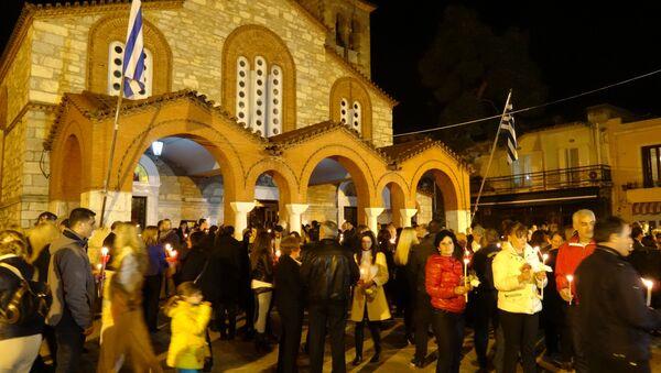 Празднование Пасхи в Греции