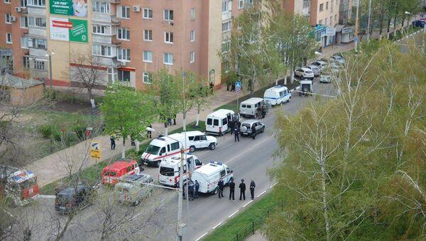 Сотрудниками полиции блокировано здание банка Западный в Белгороде