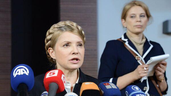 Экс-премьер Украины, кандидат в президенты Юлия Тимошенко