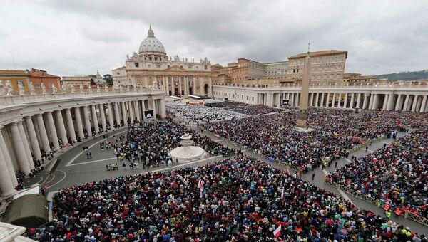 Церемония канонизации пап Иоанна XXIII и Иоанна Павла II