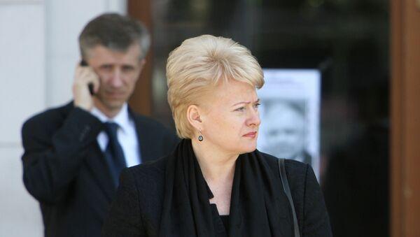 Президент Литвы Далия Грибаускайте