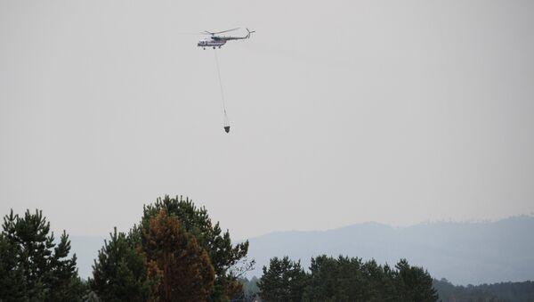 Вертолет противопожарной службы МЧС России Ми-8. Архивное фото