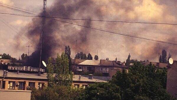 Дым в Краматорске