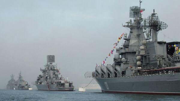 Парад кораблей в честь 230-летия Черноморского Флота России в Севастополе. Архивное фото