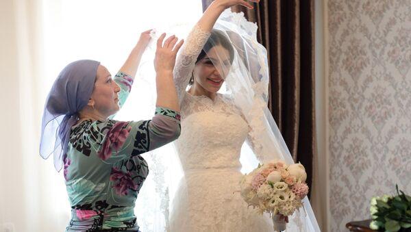 Традиционная чеченская свадьба в Грозном. Архивное фото