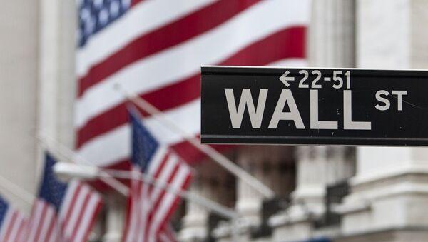 Нью-Йоркская фондовая биржа на Уолл-Стрит. Архивное фото