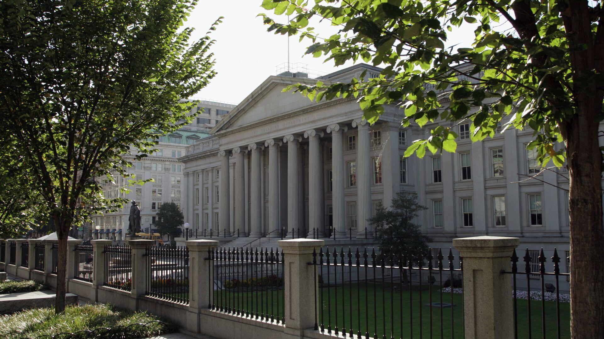 Здание министерства финансов США в Вашингтоне - РИА Новости, 1920, 05.01.2021
