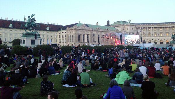 Празднование Дня окончания Второй мировой войны в Европе на Площади Героев в Вене