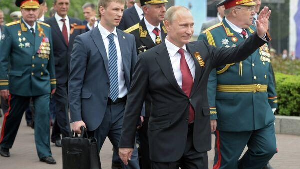 Владимир Путин принял участие в торжественных мероприятиях, посвященных 69-й годовщине Победы в ВОВ и 70-летию освобождения Севастополя