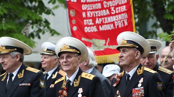 Шествие ветеранов в Севастополе