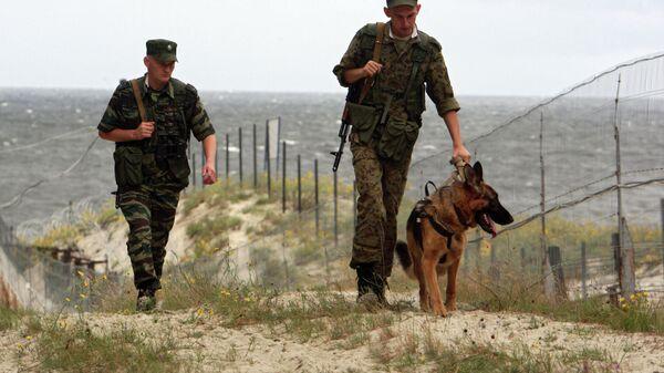 Российские пограничники в наряде. Архивное фото