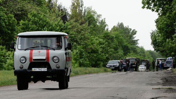 На блокпост Национальной гвардии Украины напали неизвестные. Архивное фото