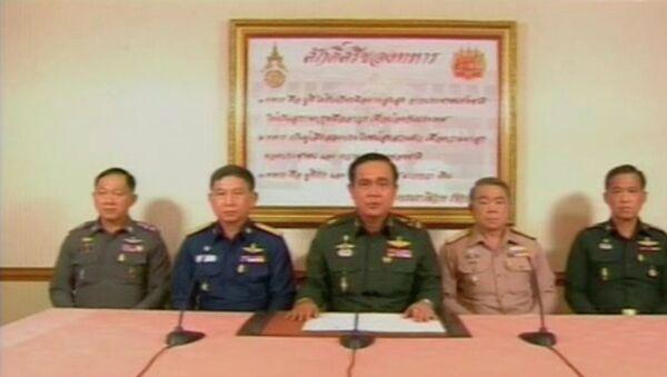 Выступление пресс-секретаря военного правительства Тайланда по телевидению 22 мая 2014