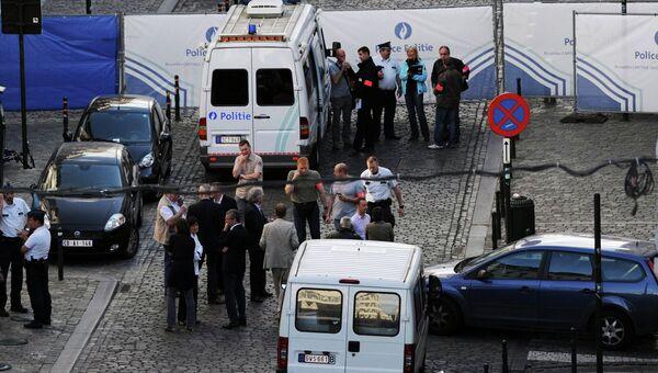 На месте стрельбы в Брюсселе, 24 мая 2014