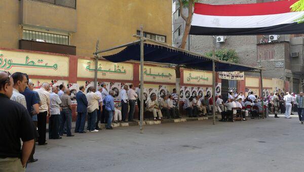 Очередь на избирательный участок в Каире