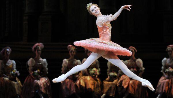 Светлана Захарова в роли принцессы Авроры в сцене из балета П.И. Чайковского Спящая красавица