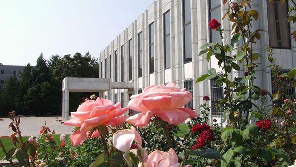 Здание Российского посольства в Вашингтоне, США