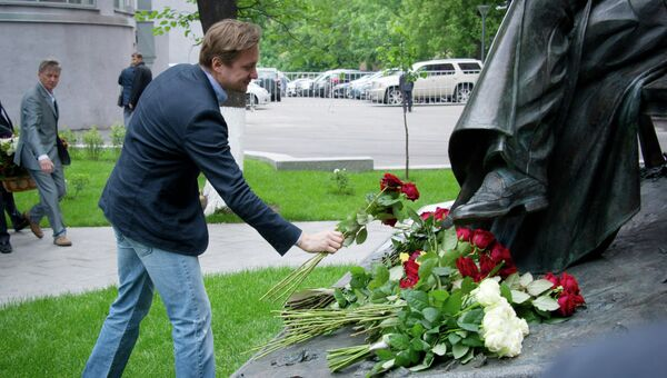 Торжественная церемония открытия памятника Сергею Михалкову
